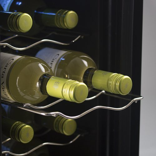 Westinghouse 6-Bottle Thermal Electric Wine Cellar -- Chrome shelves