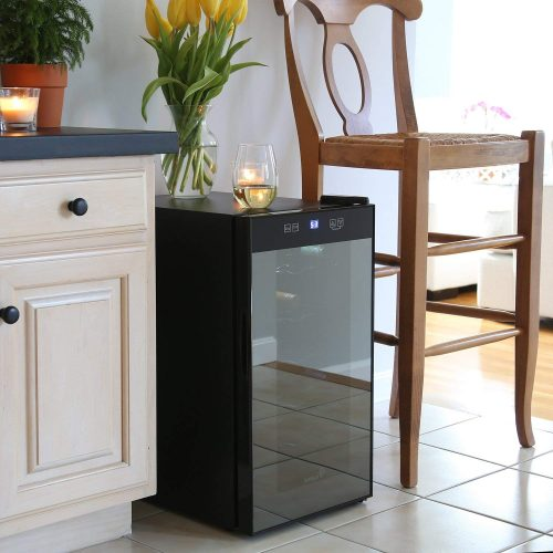 Ivation 18-Bottle Wine Cooler with Lock -installed