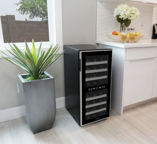 Whynter 24-Bottle Dual Zone Wine Cooler -- 6
