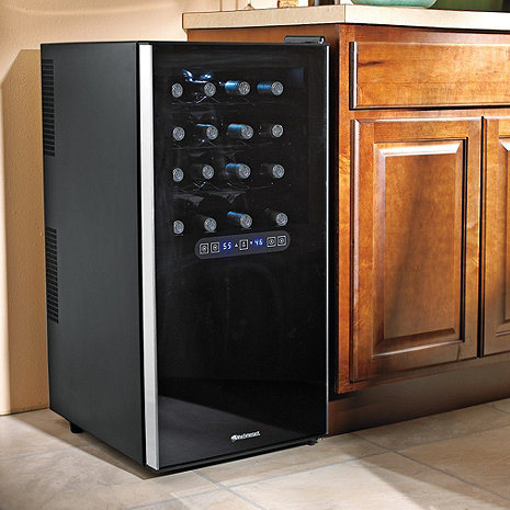Wine Enthusiast 32-Bottle Dual Zone Wine Cooler -- installed