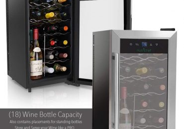 Nutrichef 18-Bottle Wine Cooler with Handle [Extensive Review]