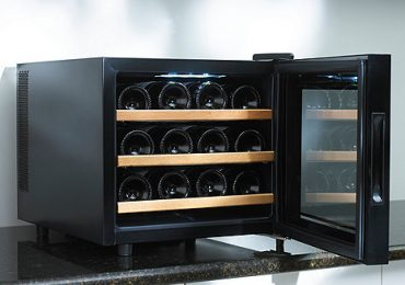 Wine Enthusiast 12-Bottle Wine Cooler (Black) [In-depth Review]