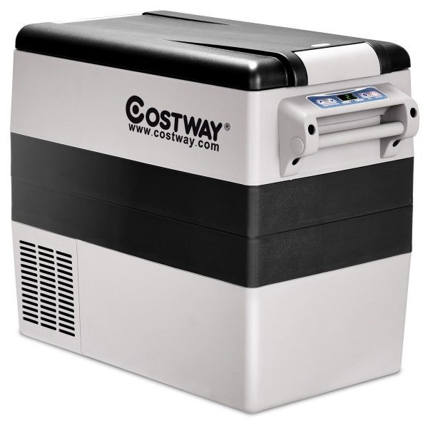 Costway 54 Quart 12V Refrigerator with LCD temperature display