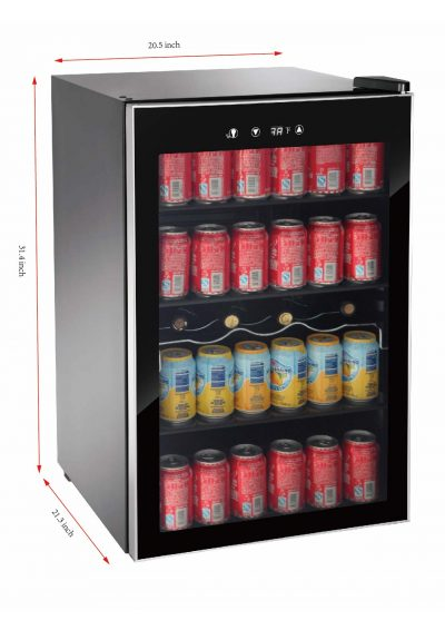 RCA 110-Can and 4-Bottle Beverage Refrigerator -- dimensions