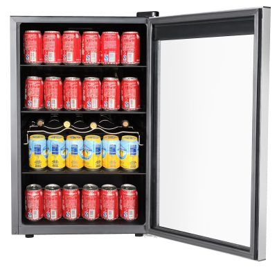 RCA 110-Can and 4-Bottle Beverage Refrigerator
