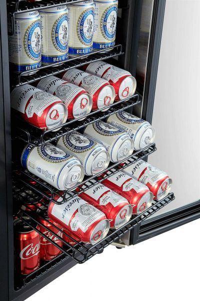 Phiestina 106-Can Beverage Refrigerator -- Shelves