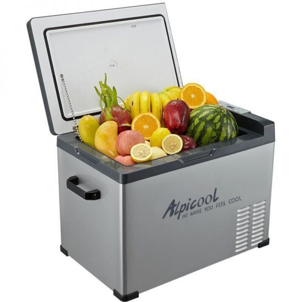 Alpicool 40-Liter Portable 12V Refrigerator with Wheels -- 1