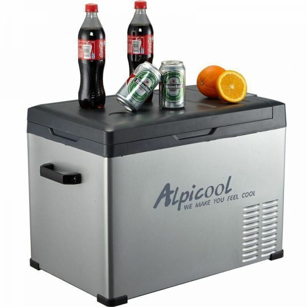 Alpicool 40-Liter Portable 12V Refrigerator with Wheels -- 3