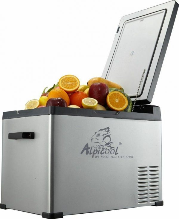 Alpicool 40-Liter Portable 12V Refrigerator with Wheels