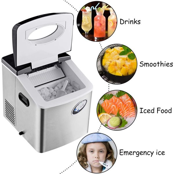 Costway 48-Pound Ice Maker -- 6